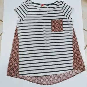 Anthropologie striped shirt size L